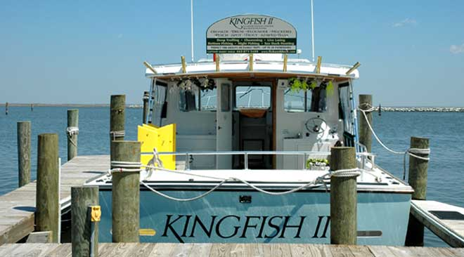 Kingfish II at dock